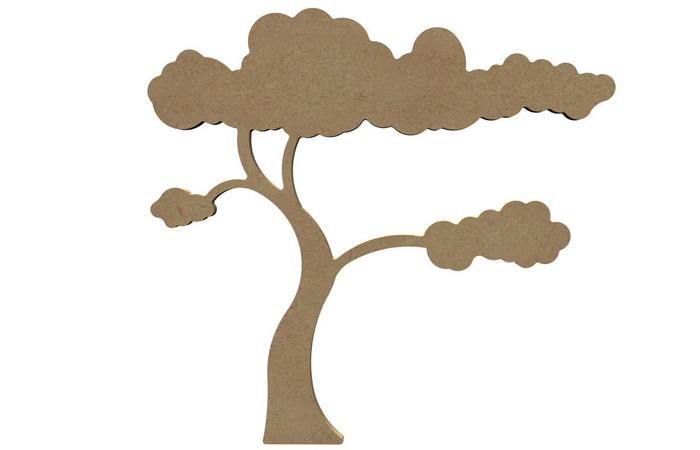 arbre savane en bois à décorer pour le tuto dinosaure