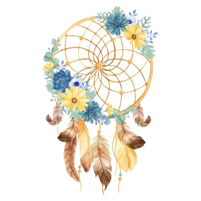 Attrape-rêve avec fleurs