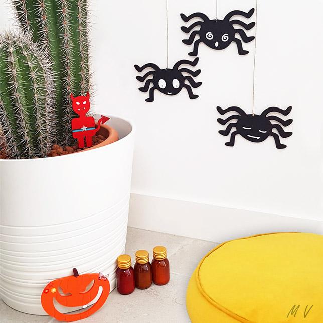 """Tutoriel : une déco """"araignée pour Halloween"""" en bois très terrifiante en DIY !"""