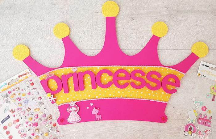 une couronne de princesse en bois à décorer e loisirs créatifs