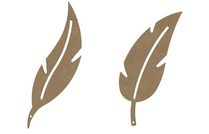 plumes en bois à personnaliser gomille