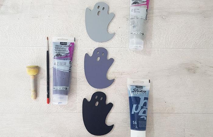 fantomes en bois à peindre en gris