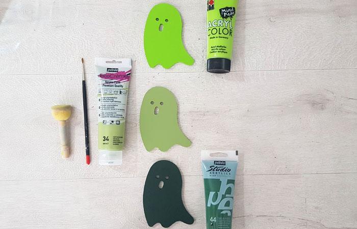 peindre les fantomes en vert