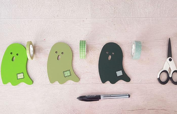 décorer les fantôme d'halloween en loisirs créatifs