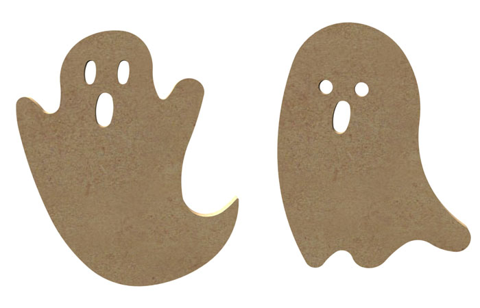 des fantôme d'halloween en bois à décorer