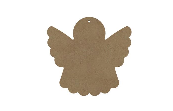 une déco de noel ange en bois à customiser