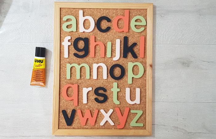 alphabet en bois à personnaliser avec de la peinture