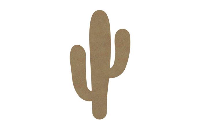 un grand cactus en bois à peronnaliser