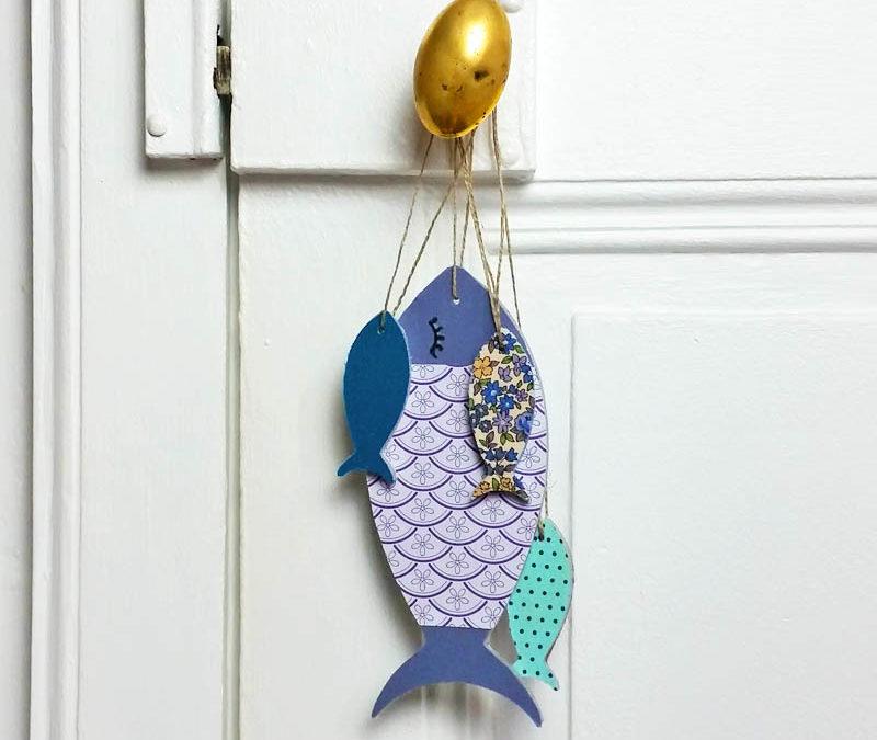 Idée déco pour le 1er avril : un poisson en bois à personnaliser
