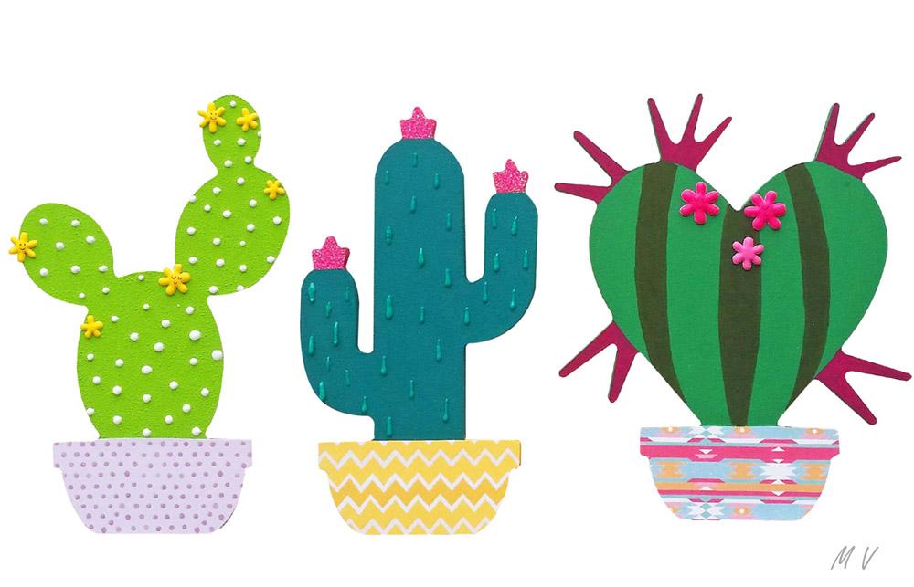 idées de décoration avec des cactus en bois