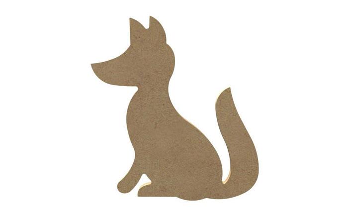 petit renard en bois à décorer pour une déco de chambre