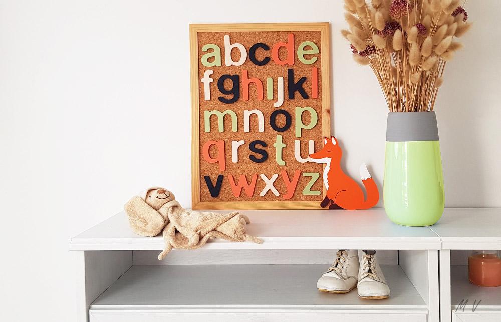 Un tableau alphabet en bois à faire soi-même !