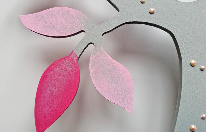 arbre en bois à peindre en rose
