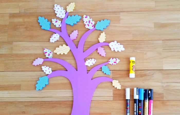 colorier les feuilles du chêne