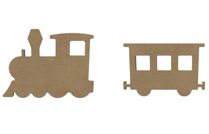 un train en bois décoratif à décorer