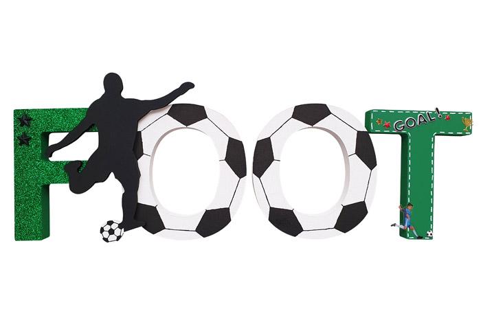 mot foot en bois à poser et à décorer