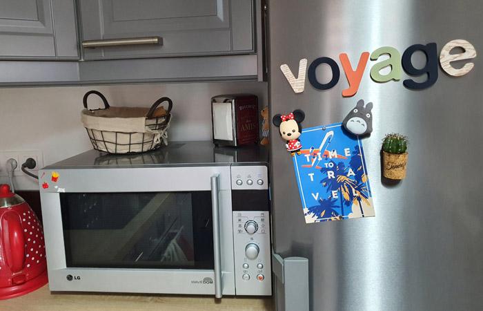 mot voyage en bois à peindre et à poser sur le frigo