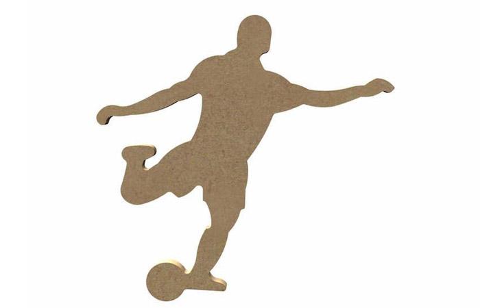 joueur de foot en bois à décorer