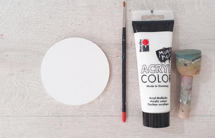 petit rond en bois à peindre en blanc