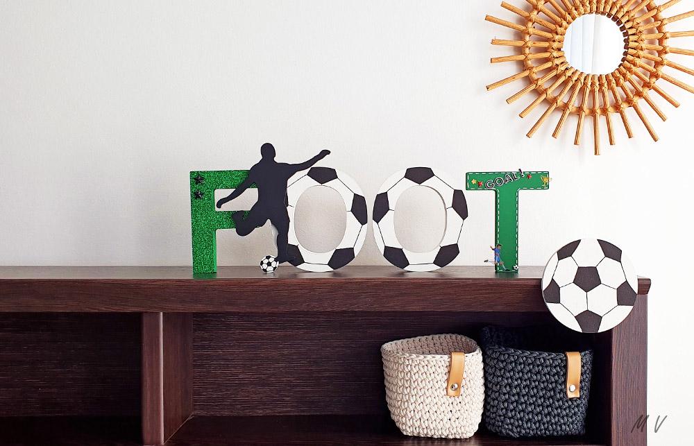 une déco de foot pour un anniversaire à décorer en bois