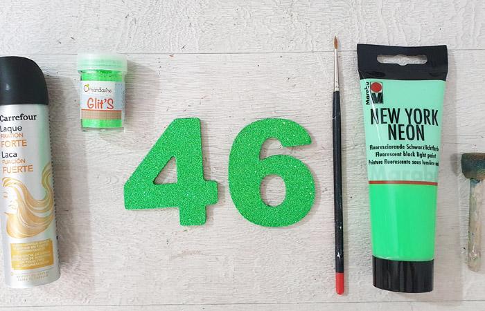 chiffre 46 en bois à peindre
