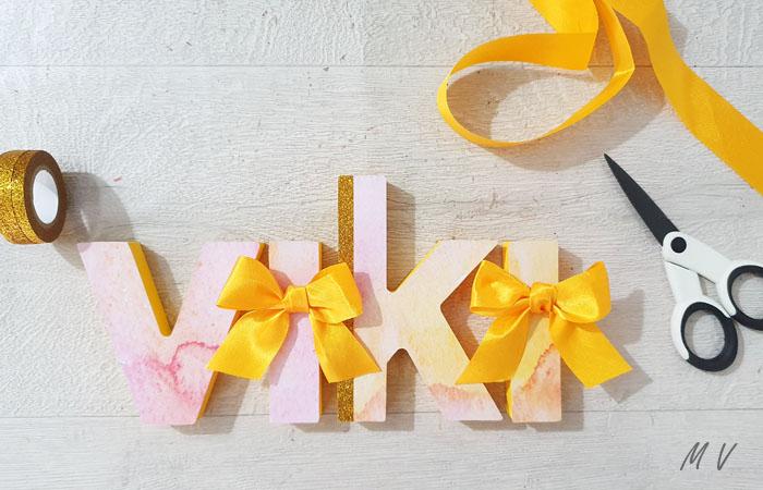 prénom en bois à poser et à décorer fille