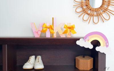 Tuto : décorer un arc en ciel en bois pour une chambre d'enfant