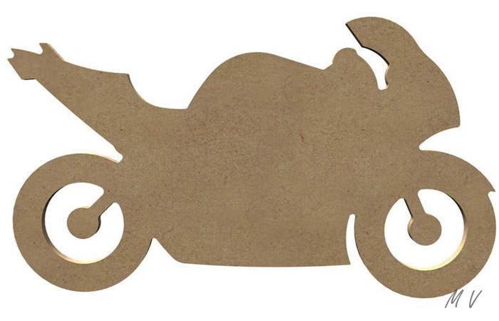 silhouette de moto en bois à peindre