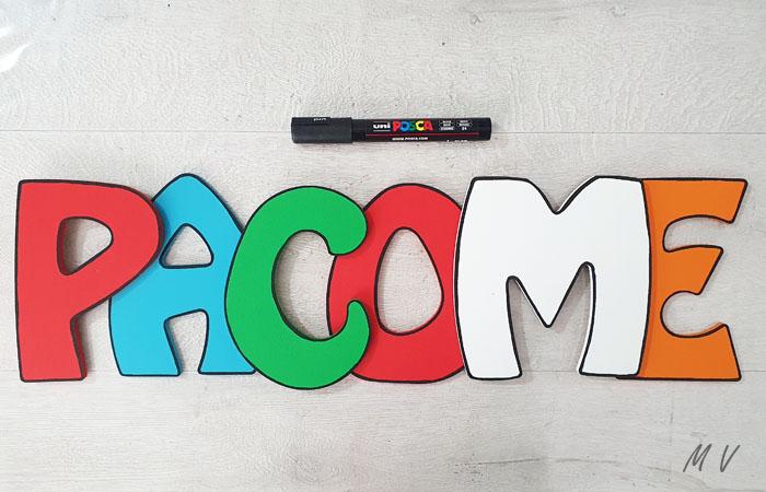 prénom Pacôme en bois à peindre