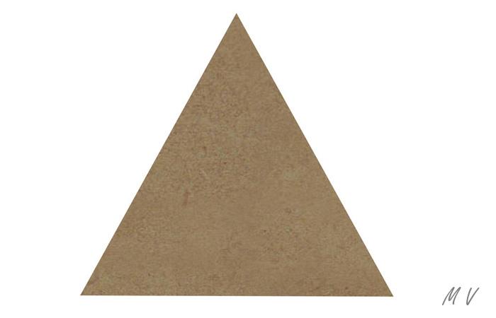 grand triangle en bois à peindre