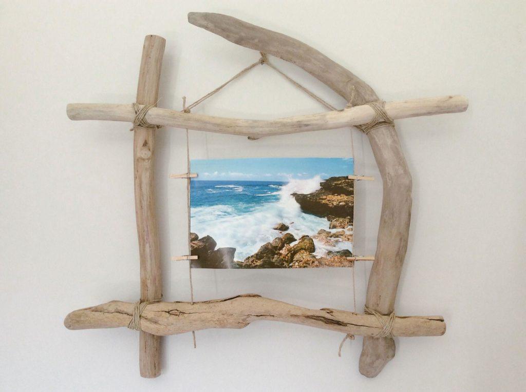 cadre photo en bois flotté