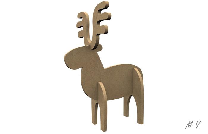 petit caribou 3D à décorer pour noël
