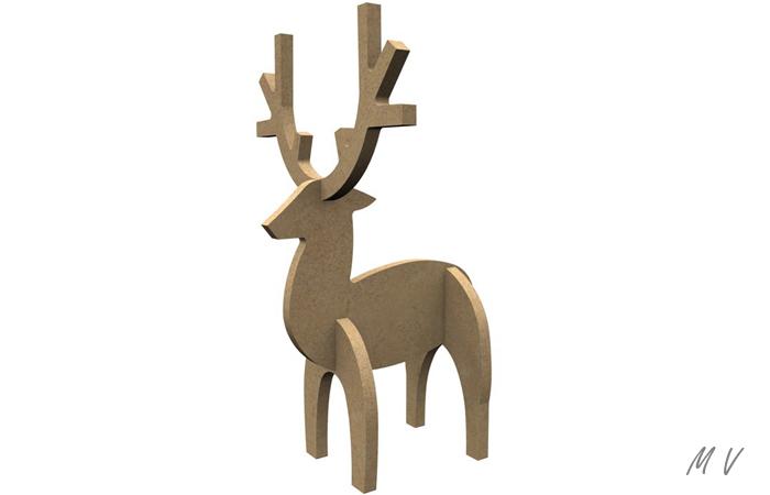 déco de table de Noël avec le petit cerf 3D
