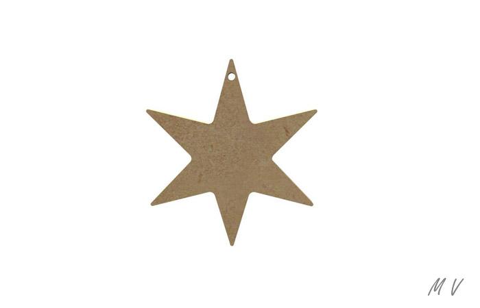 petite étoile 6 branches à peindre pour noël