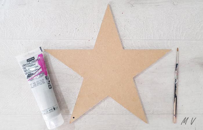 peindre la grande étoile en gris