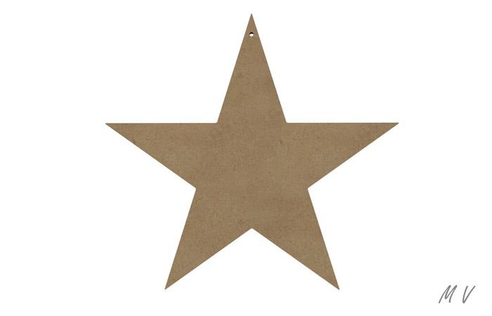 décoration d'étoile en bois pour noël