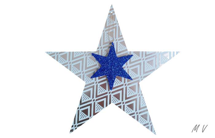 décoration d'étoile en bois a suspendre pour Noël