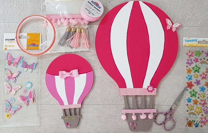 déco en loisir créatif des montgolfières en bois
