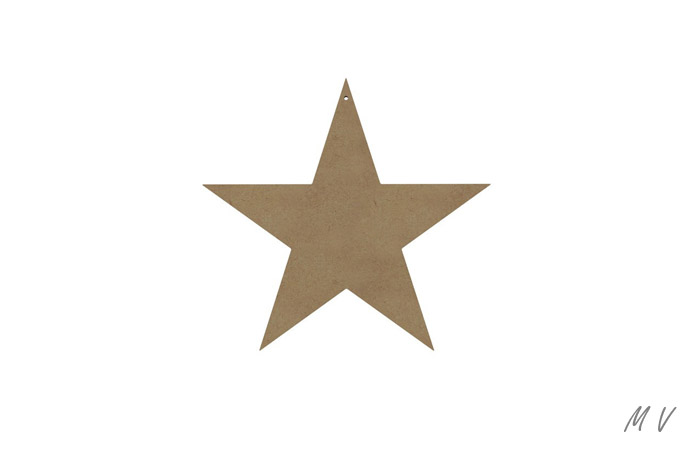 moyenne étoile en bois à peindre
