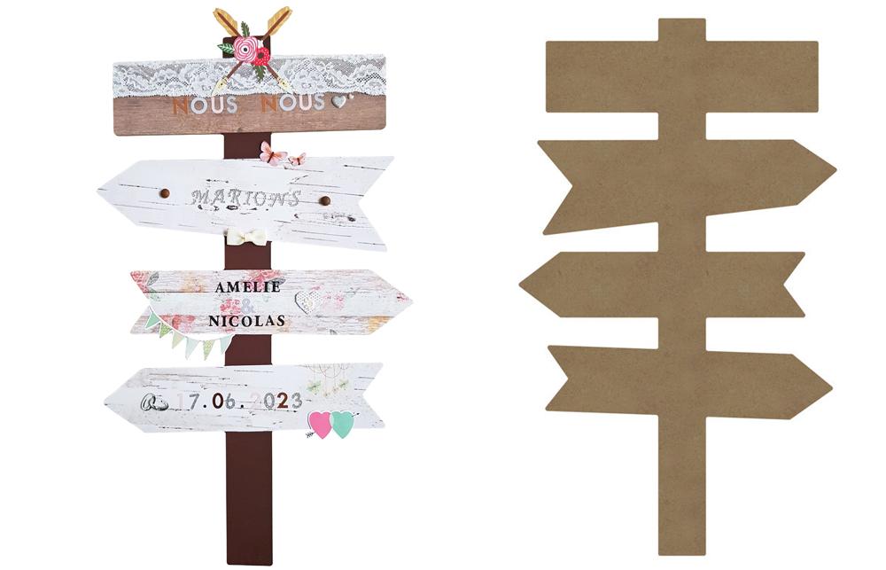 Tuto : fabriquer un panneau directionnel de mariage