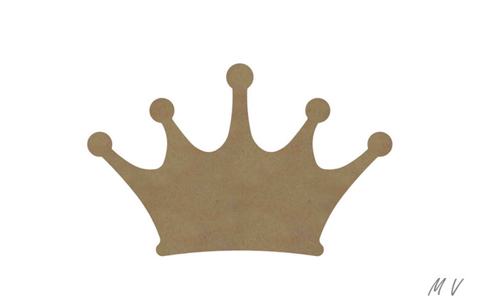 petite couronne de princesse en bois