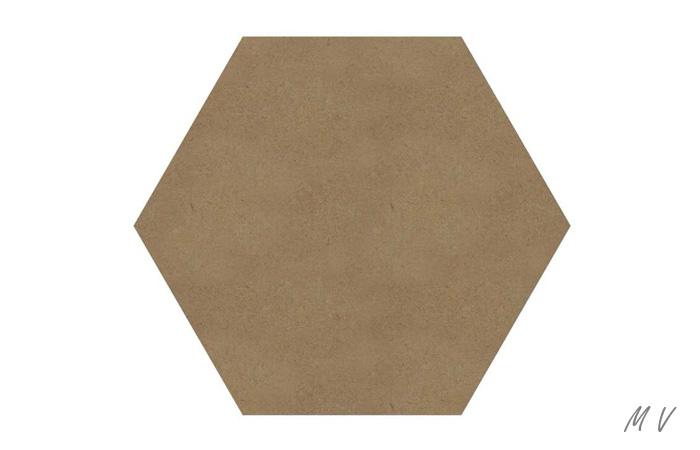un hexagone en bois