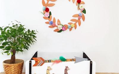 Une déco murale avec des fleurs séchées : tuto pas-à-pas