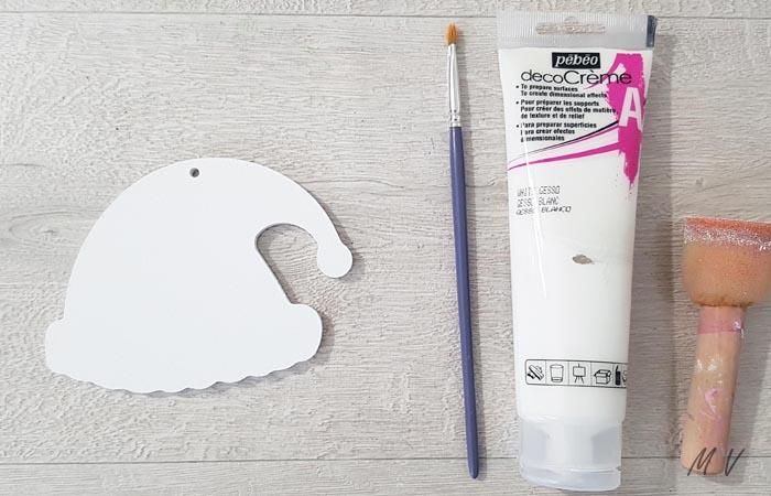 bonnet en bois à peindre en blanc