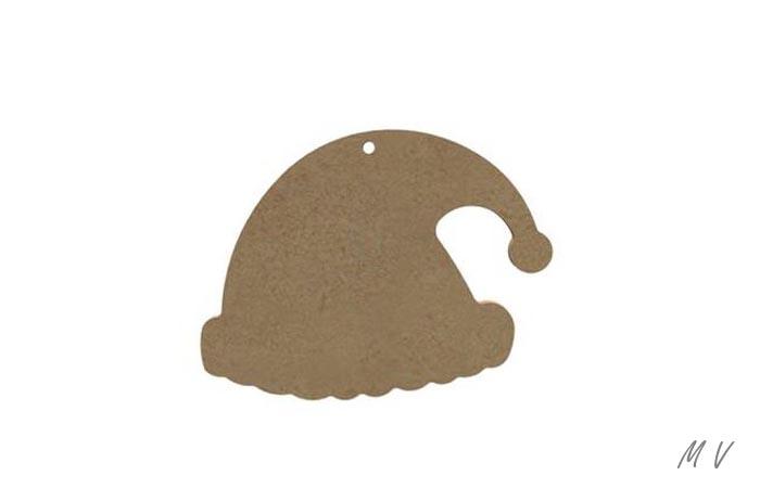 bonnet en bois à suspendre au sapin de noël authentique