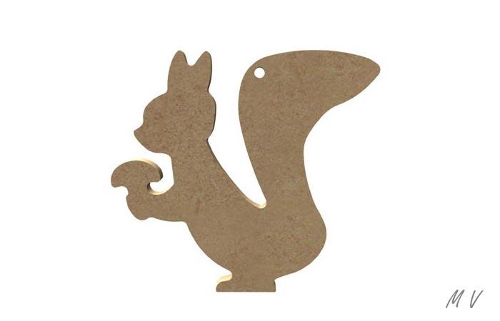 écureuil percé à suspendre en bois