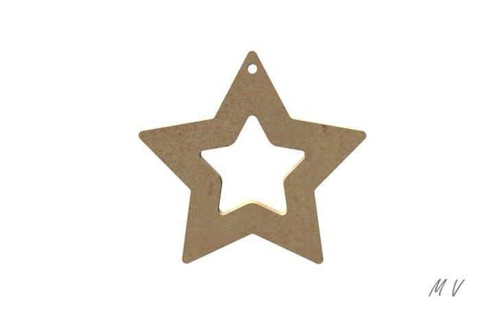 jolie étoile en bois à peindre