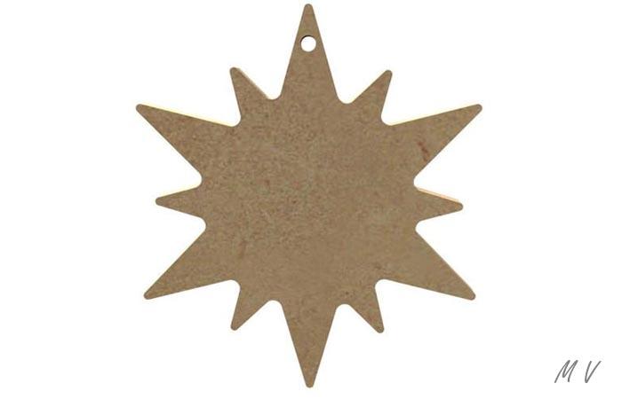 étoile à décorer pour un sapin de noël authentique