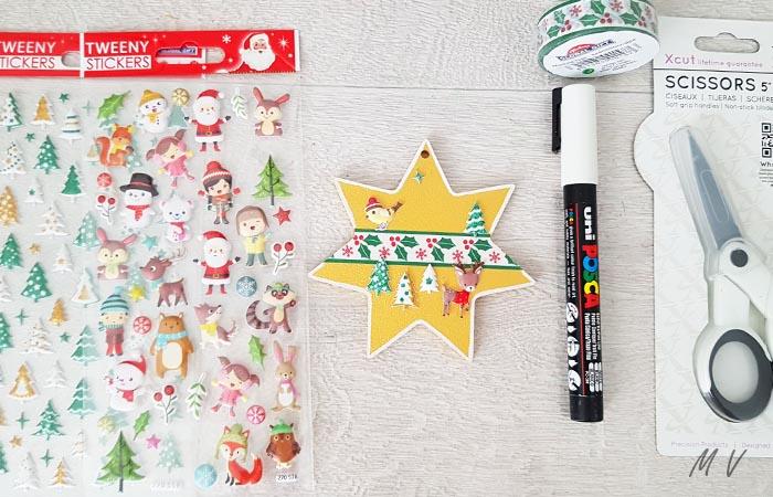 étoile en bois pour le sapin Noël automne