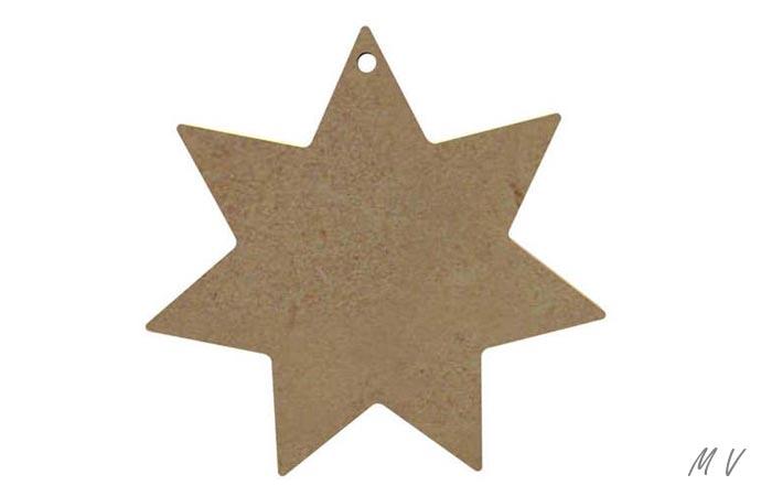 étoile en bois pour vos déco de noël